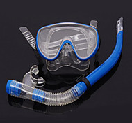 Máscaras de mergulho Two-Window Unissex PVC Azul
