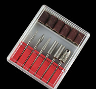 High Quality 6 Styles / Set Professional Nail Art Polishing Grinding Head Tools Nail Art Ceramic Electric Drill Bits