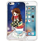 estrelas da dança parte traseira do silicone caso macio transparente para iPhone 6 Plus / 6s mais (cores sortidas)