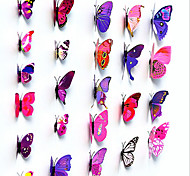 3D Simulation of The Living Room Wall Stickers Wardrobe Refrigerator Butterfly Stickers 12 Random Color