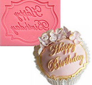 Happy Birthday English Fondant Silicone Mold liquid Silicone