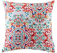 Polyester Pillow With Insert,Floral Retro