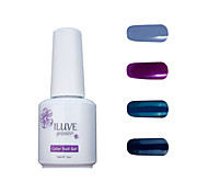ILuve Gel Nail Polish Set - Pack Of 4 - Long Lasting 3 Weeks Soak Off UV Led Gel Varnish – For Nail Art #4014