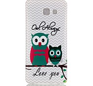 Wave Owl Pattern TPU Back Case for Galaxy A5(2016)/Galaxy A5(2016)