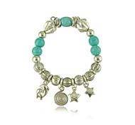 Vintage Turquoise Dolphin Star Elements Bracelet