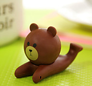 Bear Design Rubber Holder for iPhone and Samsung(1 PCS)
