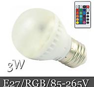 3W E26/E27 LED-bollampen Verzonken ombouw 6LED SMD 5050 400 lm RGB Op afstand bedienbaar / Decoratief AC 85-265 V 1 stuks
