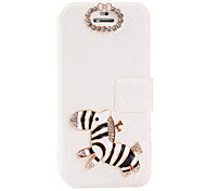 For iPhone 6 Case / iPhone 6 Plus Case Card Holder / Rhinestone / with Stand / Flip Case Full Body Case 3D Cartoon Hard PU LeatheriPhone