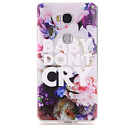 For Huawei Case Pattern Case Back Cover Case Word / Phrase Soft TPU Huawei