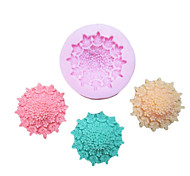 One Hole Flower Clumps Silicone Mold Fondant Molds Sugar Craft Tools Resin flowers Mould Molds For Cakes