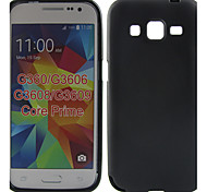 Solid Color Jelly Protection Silicone Back Cover Case Design Pattern For GALAXY CORE Prime G360