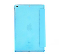 Transparent Crystal Surface Soft TPU Tri-fold Flip Case Cover for iPad Air