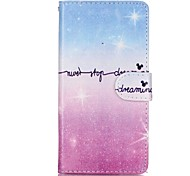 Starlight Pattern Cool Words Magnetic Flip Wallet PU Leather Phone Case for Huawei P9