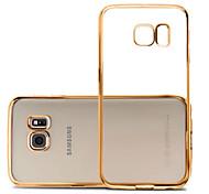 caso suave simple y de alta calidad de la transparencia de la cerda joven de teléfono de última generación para Samsung Galaxy S6 / S6