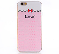 Pink Bow Pattern Soft TPU Back  Cover Case for iPhone 6/iPhone 6S