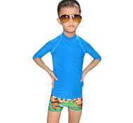 Kid's Dive Skins Wetsuit Skin Ultraviolet Resistant Chinlon Diving Suit Short Sleeve Rash guard Diving Suits Swimwear Tops-Swimming