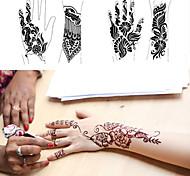 1pcs tatuaggio modelli stencil mani / piedi henné tatuaggio per aerografia nuovo kit professionale body painting mehndi