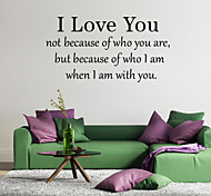 Words & Quotes I Love You Wall Stickers Plane Wall Stickers,VINYL 58*30cm
