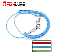 2pcs/lot Afishlure Elastic Plastic Rope Fishing Rope Miss Rope Length 62cm Spring 21cm Elongation 2m Green/Red/Blue