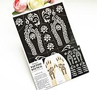 Plantillas para Tatuajes Temporales- paraAdulto / Juventud-Negro-PVC-1-28*18*0.2