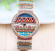 Woman's Fashion Diamond Stamp Strap Watch