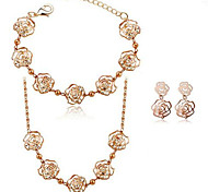 Summer Jewelry Gem / Silver Plated Jewelry Set Necklace/Bracelet / Necklace/Earrings