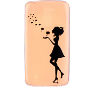 Dandelion Sexy Lady Pattern Embossed TPU Case for LG K7/ K10
