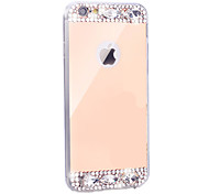 Gold / Silver Diamond Bling Crystal TPU Plating Mirror Phone Case For Apple iPhone 5/ 5S