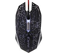 Jite 6d mouse da gioco 6 tasti di illuminazione cablata usb del mouse nero