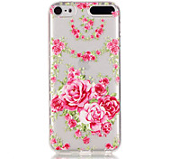 Rose Pattern TPU Relief Back Cover Case for iPod Touch 5/Touch 6