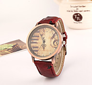 Women's European Style Fashion New Retro Note Piano Keys Leather Watches Cool Watches Unique Watches