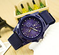 Men's Hot Fashion European Style Braided Rope Canvas Wrist Watch