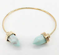 Natural Turquoise Alloy Bracelet Bangles Daily / Casual 1pc