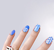 White Hollow Sticker PVC Lovely Nail Jewelry