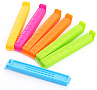 7Pcs Love Printing Large Sealing Clamp Fresh Food Bag Plastic Bag Sealing Clip Kitchen Tools