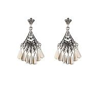 Earring Drop Earrings Jewelry Women Alloy / Resin / Rhinestone 2pcs Gray