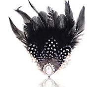 Summer jewelry pearl feather brooch for women