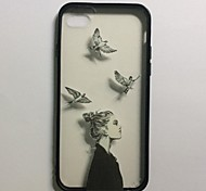 Birds Male and Female Couples Black Edge Transparent Back Cases for iPhone 5/5S(Assorted Colors)