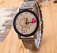 Women's  Big Boy Lovers Balloon Brown Glass Black Tungsten Steel Watch Cool Watches Unique Watches