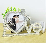 "7""Frame LOVE Letter Pearl Heart-shaped Frame Photo Frame Wedding decoration Home Decoration"