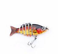 "MMlong 2"" Fishing Baits 6 Segment Life-Like Hard Bait Fishing Tackle 12# Hook Slow Sink Swimbait Crankbait MML13"