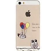 Para Funda iPhone 5 Transparente / Diseños / En Relieve Funda Cubierta Trasera Funda Dibujos Suave TPU iPhone SE/5s/5
