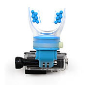 TELESIN Surfing Skating Shoot Dummy Bite Mouthpiece holder Mouth Mount Adapter+Floaty+Neck Lanyard for GoPro Hero 4/3