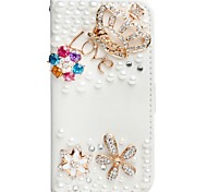 Luxury 3D Bling Crystal Rhinestone Wallet Leather Flip Card Pouch Stand Cover Case for iphone5/5s/SE