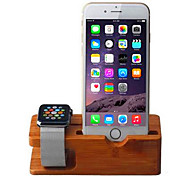 Watch Mobile Phone Charging Base Support / Smart Watch Mobile Phone In Bamboo Scaffold Display