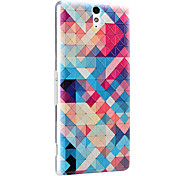 3D Relief Graphic Pattern Fashion PC Material Back Cover for Sony C5