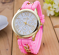 Women's The Korean Version Of Rome Number Three Eye Jelly Silicone Watch (Assorted Colors)