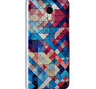 For Meizu Case Pattern Case Back Cover Case Geometric Pattern Hard PC Meizu