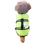 Dog Vest / Life Vest Orange / Green Dog Clothes Summer / Spring/Fall Waterproof