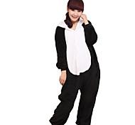 Unisex Lazy Panda Flannel Kigurumi Pajama